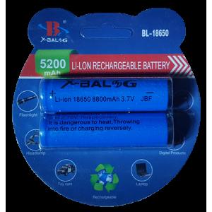 Аккумулятор в блистере 2шт 18650 5200 mAh 3,7V
